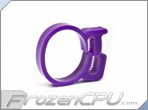 "Premium Delrin Tubing Clamps - 3/4"" OD - UV Purple"