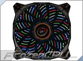 Lepa 120mm x 25mm Multi Color Casion PWM Fan - Blue / Red / Green / White LED <b>6 Lighting Effects!!</b> (LPVC4C12P)