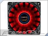 Lepa 120mm x 25mm Chopper Cycling LED Fan - Red w/ Dynamic Lighting Effects!!! (LPCP12N-R)