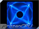 Akasa 140mm x 25mm 1200 RPM Quiet Fan - Blue LED  (AK-FN074)