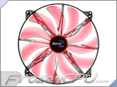 Aerocool Silent Master 200mm x 20mm Ultra Thin Fan - Red LED