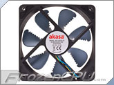 Akasa 120mm x 25mm Piranha PWM Fan w/ Air Ripper Blade Design - Black (AK-FN072)
