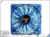 BGears B-PWM 120mm x 25mm High Static Pressure PWM LED Fan - 2000 RPM - Translucent Blue