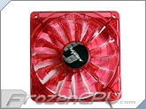 BGears B-PWM 120mm x 25mm High Static Pressure PWM LED Fan - 2000 RPM - Translucent Red