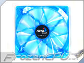 AeroCool 140mm Streamliner Fan w/ 120mm Adaptor - UV BLUE