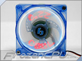 BGears b-Cool 80mm LED Fan w/ Temperature Display - Blue/Red