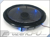250mm Silent LED Case Fan - Black Frame - Blue