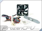 BGears b-flexi80 80mm 4-in-1 LED Case Fan - Blue/Green/Red - 37 CFM