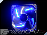 BGears b-ice 120mmx25mm Blue LED Fan - Silver
