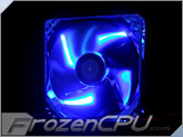 BGears b-ice 120mmx25mm Blue LED Fan - Blue