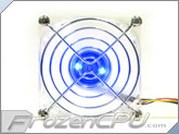 Blue LED 80mm Fan w/ Automatic Thermal Control