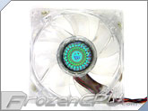 Cooler Master 80x25mm Dual Ball Silent Fan - Blue LED (Y720D8D-29T1-GP) - 48.8CFM
