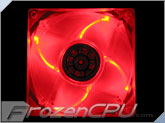 Quad Red LED 80mm Fan