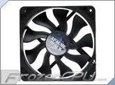 Akasa 120mm x 25mm Apache Black Super Silent PWM Fan w/ Hydro Dynamic Bearings - Black