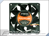 Evercool Long Life 80mm x 38mm High Speed Fan - 67.1 CFM (EC8038H12BA)