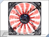 Aerocool Shark Red Edition 120mm x 25mm High Air Pressure Fan w/ Red LEDs