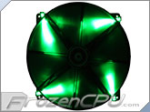 BitFenix Spectre LED 200mm Fan - Green (BFF-BLF-20020G-RP)