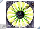 Aerocool Shark Green Edition 120mm x 25mm High Air Pressure Fan w/ Green LEDs