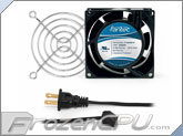 Fantec 80 x 80 x 38mm Dual Ball Bearing AC Fan Kit w/ Grill - CAB 700 - (31 CFM)