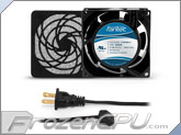 Fantec 80 x 80 x 38mm Dual Ball Bearing AC Fan Kit w/ Filter - CAB 701 - (31 CFM)