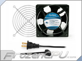 Fantec 120 x 120 x 38mm Dual Ball Bearing AC Fan Kit w/ Grill - CAB 702 - (80 CFM)