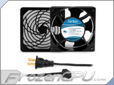 Fantec 120 x 120 x 38mm Dual Ball Bearing AC Fan Kit w/ Filter - CAB 703 - (80 CFM)