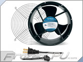 Fantec 254 x 89mm Dual Ball Bearing AC Fan Kit w/ Grill - CAB 706 - High Speed (600 CFM)