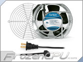 Fantec 172 x 150 x 51mm Dual Ball Bearing AC Fan Kit w/ Grill - CAB 707 - High Speed (240 CFM)