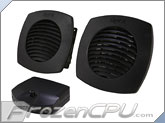 Silenx ixtrema Pro Quiet Cabinet Cooling System - Dual Cooling Fans & Grills Included (Model: IXA-CCS)