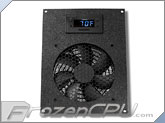 CabCool 1201 Deluxe Single 120mm Cabinet Cooling Kit w/ Programmable LED Thermal Control and Monitor