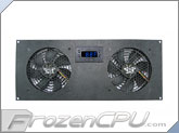 CabCool 1202 Deluxe Dual 120mm Cabinet Cooling Kit w/ Programmable LED Thermal Control and Monitor