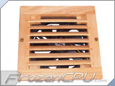 CabCool 1202W Lite Single 120mm Wood Grill 5V Fan Cabinet Cooling Kit