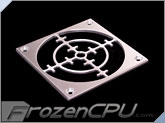 MNPCTech CNC Machined 120mm Billet Aluminum Fan Grill - Sniper - Silver