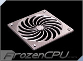 MNPCTech CNC Machined 120mm Billet Aluminum Fan Grill - Turbo - Silver