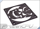 MNPCTech CNC Machined 120mm Billet Aluminum Fan Grill - Skull - Black