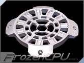 MNPCTech CNC Machined 120mm OVERKILL 3D Aluminum Fan Grill - Arc Reactor - Silver