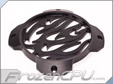MNPCTech CNC Machined 120mm OVERKILL 3D Aluminum Fan Grill - Flames - Black