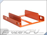 LD Cooling Little Devil Dual SSD Adapter Bracket - Orange Powder Coat (SSD-D-O)