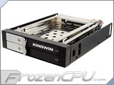 "Kingwin Dual 2.5"" Single 3.5"" Bay Internal Tray-Less Hot Swap Rack w/ Key Lock (KF-251-BK)"
