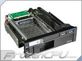 "Akasa Lokstor M51 5.25"" Bay Internal 2.5"" and 3.5"" HDD & SSD Hot-Swap Combo Rack w/ Dual USB 3.0 (AK-IEN-01)"