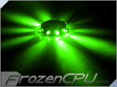 FrozenCPU RingPuk 10 LED Lighting Module - Green