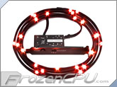 NZXT Premium Sleeved Bright LED Kit - 2 Meter - Red (CB-LED20-RD)