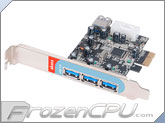 Akasa USB 3.0 (1 x Internal / 3 x External) PCI Express Expansion Card (AK-PCCU3-03)