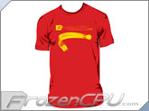 FrozenCPU.com Original Single Braid T-shirt - Red - ( Size - Large)