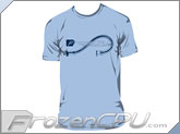 FrozenCPU.com Original Liquid Cooling T-shirt - Light Blue - (Size - Large)