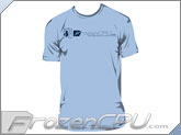 FrozenCPU.com Original Tower Chassis T-shirt - Light Blue - ( Size - Large)