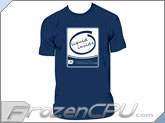 FrozenCPU.com Original Liquid Inside T-shirt - Navy Blue - (Size X-Large)
