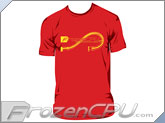 FrozenCPU.com Original Liquid Cooling T-shirt - Red - (Size - Large)