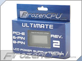 FrozenCPU ATX 2.0 Ultimate LCD Power Supply Tester - <b>Rev 2</b> (20/24 pin ATX, SATA, P4/P8, PCI-E 6-Pin/8-Pin, Floppy, 4 pin)