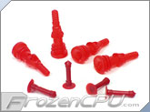 Deluxe Rubber Fan Push Pins for Open Chassis Fan - Red - 4 Pack